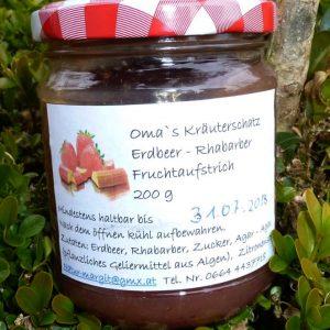Erdbeer - Rhabarber Fruchtaufstrich