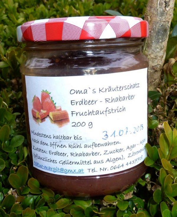 Erdbeer – Rhabarber Fruchtaufstrich 1